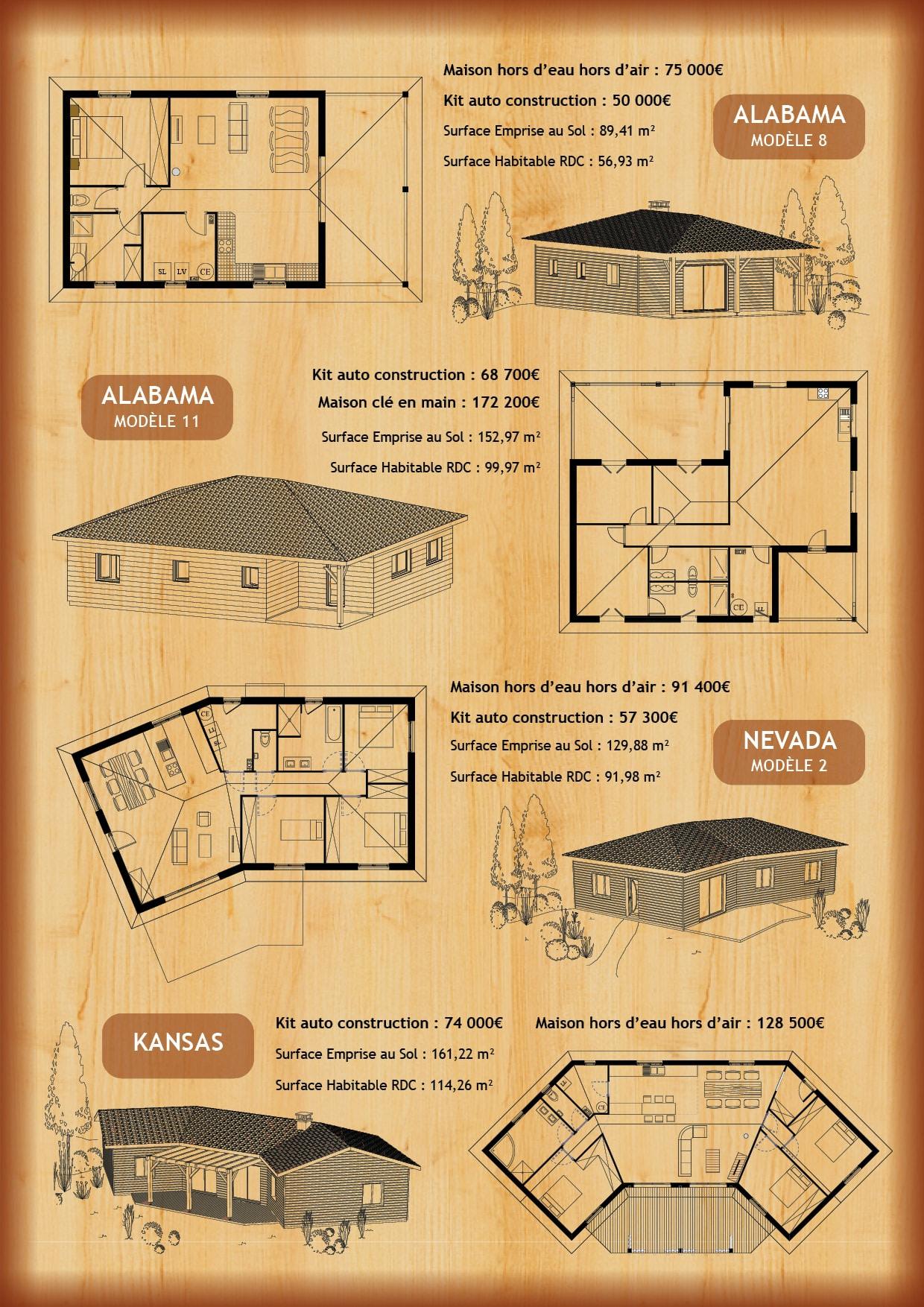 Tarif et plan de construction maison en bois